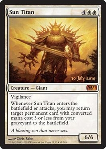 Magic the Gathering Prerelease & Release Promo Card Sun Titan [Magic 2011 Prerelease]