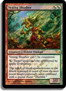 Magic the Gathering Prerelease & Release Promo Card Vexing Shusher [Shadowmoor Release]