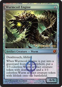 Magic the Gathering Prerelease & Release Promo Card Wurmcoil Engine [Scars of Mirrodin Prerelease]