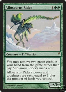 Magic the Gathering Prerelease & Release Promo Card Allosaurus Rider [Coldsnap Release]