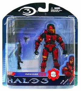 Halo 3 McFarlane Toys Series 2 Action Figure RED Close Quarters Battle CQB Spartan