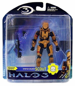 Halo 3 McFarlane Toys Series 2 Action Figure TAN Scout Spartan COLLECTOR'S CHOICE!