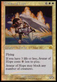 Magic the Gathering Prerelease & Release Promo Card Avatar of Hope [Prophecy Prerelease]