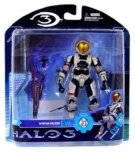 Halo 3 McFarlane Toys Series 2 Exclusive Action Figure WHITE Extra Vehicular Activity EVA Spartan