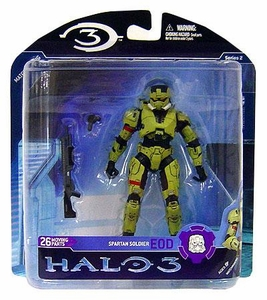 Halo 3 McFarlane Toys Series 2 Action Figure OLIVE Explosive Ordinance Disposal EOD Spartan COLLECTOR'S CHOICE!