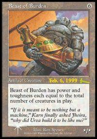 Magic the Gathering Prerelease & Release Promo Card Beast of Burden [Urza's Legacy Prerelease]