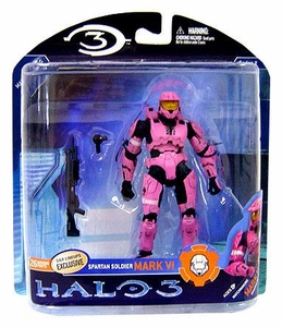 Halo 3 McFarlane Toys Series 2 Exclusive Action Figure PINK Spartan Soldier Mark VI