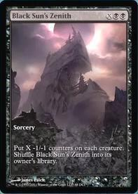 Magic the Gathering Prerelease & Release Promo Card Black Sun's Zenith [Gameday Promo]