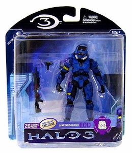 Halo 3 McFarlane Toys Series 2 Exclusive Action Figure BLUE Spartan Soldier EOD COLLECTOR'S CHOICE!