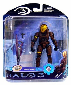 Halo 3 McFarlane Toys Series 2 Exclusive Action Figure BROWN Spartan Soldier EVA COLLECTOR'S CHOICE!