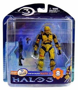 Halo 3 McFarlane Toys Series 2 Exclusive Action Figure YELLOW Spartan Soldier MARK VI