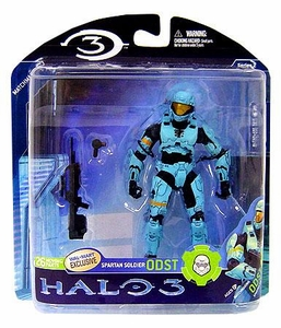 Halo 3 McFarlane Toys Series 2 Exclusive Action Figure LIGHT BLUE Spartan Soldier ODST