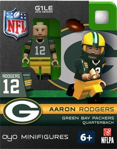 OYO Football NFL Building Brick Minifigure Aaron Rodgers [Green Bay Packers]