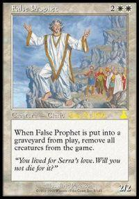 Magic the Gathering Prerelease & Release Promo Card False Prophet [Urza's Legacy Prerelease]