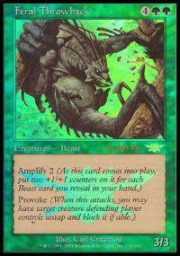 Magic the Gathering Prerelease & Release Promo Card Feral Throwback [Legions Prerelease]