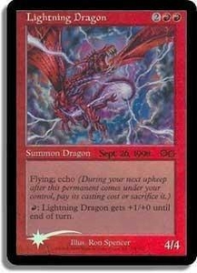 Magic the Gathering Prerelease & Release Promo Card Lightning Dragon [Urza's Saga Prerelease]