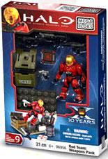 Halo Mega Bloks Exclusive Set #96956 Red Team: Weapons Pack [EVA Spartan]