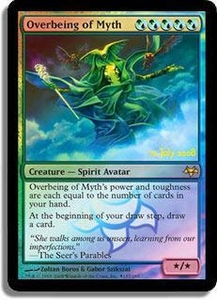 Magic the Gathering Prerelease & Release Promo Card Overbeing of Myth [Eventide Prerelease]