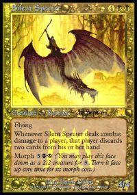 Magic the Gathering Prerelease & Release Promo Card Silent Specter [Onslaught Prerelease]