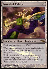 Magic the Gathering Prerelease & Release Promo Card Sword of Kaldra [Mirrodin Prerelease]