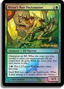 Magic the Gathering Prerelease & Release Promo Card Wren's Run Packmaster [Lorwyn Prerelease]