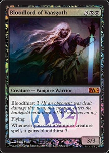 Magic the Gathering Prerelease & Release Promo Card Bloodlord of Vaasgoth [Magic 2012 Prerelease]
