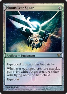 Magic the Gathering Prerelease & Release Promo Card Moonsilver Spear [Prerelease Promo]