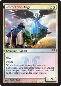 Magic the Gathering Prerelease & Release Promo Card Restoration Angel [Release Promo]
