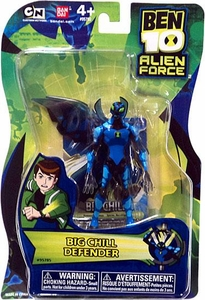 Ben 10 Alien Force 4 Inch Action Figure Big Chill DEFENDER [NO TRANSLUCENT MINI ALIEN]