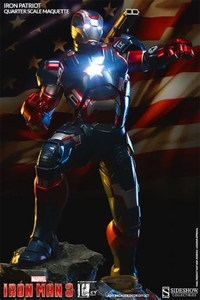 Sideshow Collectibles Marvel 1/4 Scale Maquette Statue Iron Patriot Pre-Order ships December
