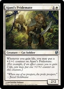 Magic the Gathering Duel Decks: Ajani vs. Nicol Bolas Single Card White Uncommon #9 Ajani's Pridemate