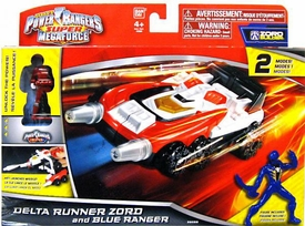 Power Rangers Super Megaforce Vehicle & Action Figure Delta Runner Zord & Blue Ranger New!