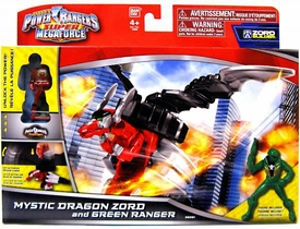 Power Rangers Super Megaforce Vehicle & Action Figure Mystic Dragon Zord & Green Ranger New!
