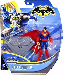 Batman 4 Inch Action Figure Steel Shield Superman (Coming Soon)
