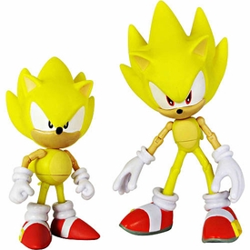 Sonic Exclusive Sonic Through Time Action Figure 2-Pack Super Sonic Classic & Super Sonic Modern