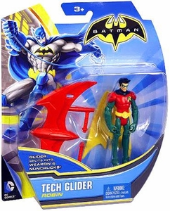 Batman 4 Inch Action Figure Tech Glider Robin New!
