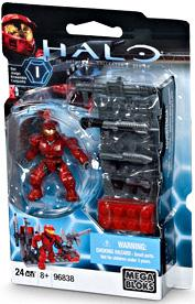 Halo Wars Mega Bloks Exclusive Set #96838 Red Weapons Pack with UNSC Spartan