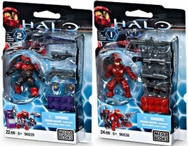 Halo Wars Mega Bloks Exclusive Set of Both Weapons Packs with Mini Figures [UNSC Spartan #96838 & Brute Stalker #96839]