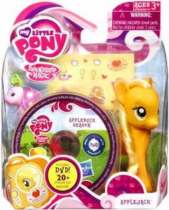My Little Pony 2012 Figure Applejack with Suitcase & DVD