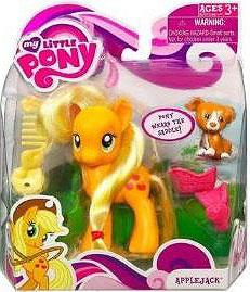 My Little Pony Figure Applejack with Saddle