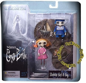 McFarlane Toys Corpse Bride Series 1 Action Figure Skeleton Boy & Girl