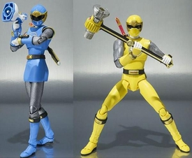 Power Rangers Ninja Storm S.H. Figuarts Action Figure Blue & Yellow Wind Ranger Set Pre-Order ships April