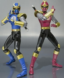 Power Rangers Ninja Storm S.H. Figuarts Action Figure Crimson & Navy Thunder Ranger Set Pre-Order ships April