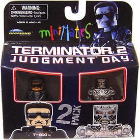 Terminator 2 Judgment Day MiniMates Series 1 Mini Figure 2-Pack T-800 & Endoskeleton