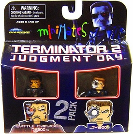Terminator 2 Judgment Day MiniMates Series 1 Mini Figure 2-Pack Battle Damaged T-800 & T-1000