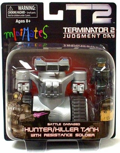 Terminator 2 Judgment Day MiniMates Battle Damaged Hunter / Killer Tank with Resistance Soldier
