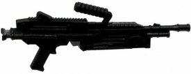 GI Joe 3 3/4 Inch LOOSE Action Figure Accessory Black Machine Gun with Removeable Clip