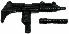GI Joe 3 3/4 Inch LOOSE Action Figure Accessory Black Uzi with Removeable Silencer