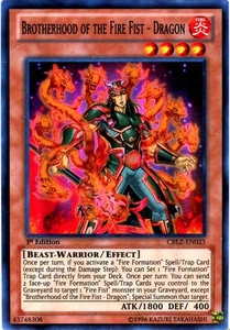 YuGiOh Zexal Cosmo Blazer Single Card Super Rare CBLZ-EN025 Brotherhood of the Fire Fist - Dragon