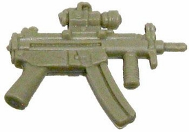 GI Joe 3 3/4 Inch LOOSE Action Figure Accessory Dark Tan MP5 with Foregrip & Sight